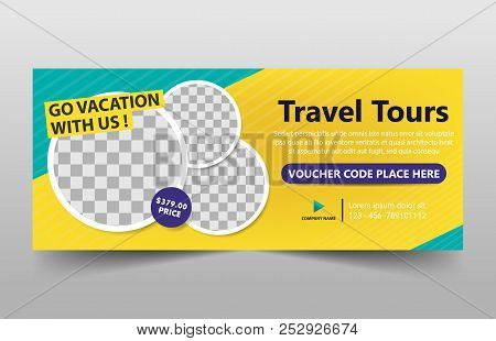 poster of Travel Tour Corporate Business Banner Template, Horizontal Advertising Business Banner Layout Templa