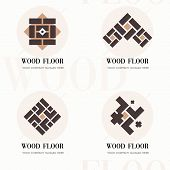 Wood Flooring Company Logos. Wood Flooring Company Logos In Flat Style For Website. Editable Vector  poster