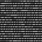 Binary figures. Vector seamless wallpaper