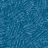 Blue stratches. Seamless vector wallpaper