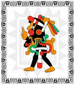 Mayan Warrior On White