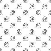 Email Address Pattern Seamless. Repeat Illustration Of Email Address Pattern  Geometric For Any Web  poster