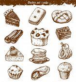 doodle set : cake