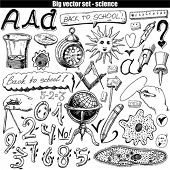 vector set - doodles - science