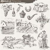 Постер, плакат: рука нарисованные коллекции