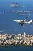 Airplane Over Rio De Janeiro Brazil