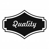 Quality Label Icon. Simple Illustration Of Quality Label  Icon For Web poster
