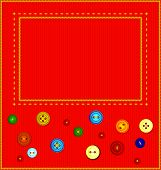 Buttons Sewn Frame