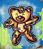 Постер, плакат: Цветные граффити в городе