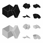 Case, Shell, Framework, And Other Web Icon In Black, Monochrome Style.box, Container, Package, Icons poster
