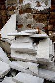 pic of katrina  - Marble and masonry debris in New Orleans post Katrina - JPG