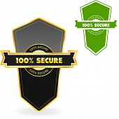 100% SECURE. Vector illustration.