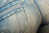 Womans Bottom In Tight Jeans