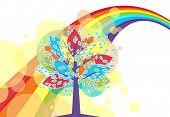 A Tree With A Rainbow