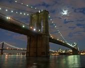 Brooklyn Bidge At Night