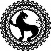 peças de crista dois Leão griffin