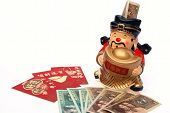 Lucky Money And Mammon Figure Bank For Chinese New Year