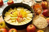 Apple pie unbaked