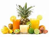 stock photo of fruit-juice  - Tropical juices - JPG