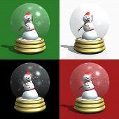Snowman snow globes pic.