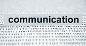 stock photo of dialect  - Close up of binary data and Communication - JPG