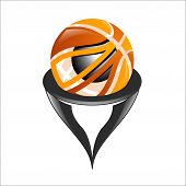 3d Basketball Illustration, Sports Abstract Design, Vector Design Illustration For World Basketball  poster