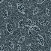 Seamless Grey Leaves Wallpaper.eps