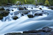 stock photo of rogue  - A waterfall in blurred motion on the Rogue River - JPG