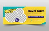 Travel Tour Corporate Business Banner Template, Horizontal Advertising Business Banner Layout Templa poster