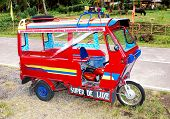 stock photo of camiguin  - A Tricycle in Camiguin Island The Philippines - JPG