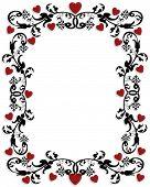 Valentine Ornamental Frame Or Border