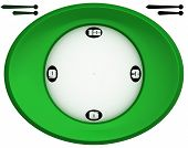 Simple, Oval Shaped Green Clock