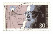 Circa 1985: Stamp Printed By Germany, Shows Portrait Father Josef Kentenich, Circa 1985