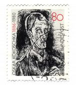 Germany - Circa 1986: A Stamp Printed In Germany, Shows Bach Contata, Detail, By Oskar Kokoschka, Ci