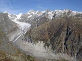 Ice River Fiescher Glacier