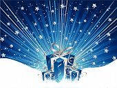 pic of christmas-present  - Christmas gifts on a starry background  - JPG