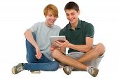 Teenage Boys Using Ipad