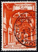 Postage stamp Vatican 1949 Basilica St. Prassede, Rome