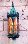 Yale University Doorway Old Metal Lamp