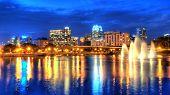 Skyline de Orlando no crepúsculo