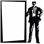 Hintergrund mit dem Unternehmer