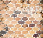 The Background Image Of Hexagonal Clay Tiles
