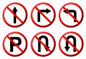 6 Do Not Do On Red Circle Traffic Sign