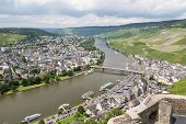Aerial View Of Bernkastel-kues At The River Moselle In Germany
