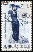 Postage stamp Austria 1970 The Merry Widow, Operetta
