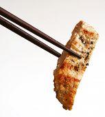 Chinese Food On Chopsticks