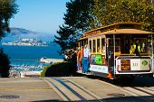 Powell-Hyde Seilbahn Alcatraz San francisco