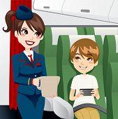 Stewardess Portion Wasser