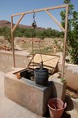 Water Well Pail In Alto Atlas Morocco Africa