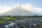 stock photo of luzon  - The Mayon Volcano  - JPG